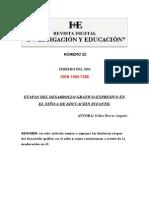 Nivel Educacion Infantil Titulo Etapas Desarrollo Grafico en Educacion Infantil Autora Esther Hervas Anguita