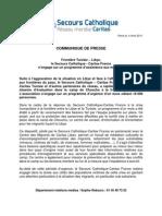 2011-04-04 Crise Humanitaire frontières Libye - réponse du Secours Catholique - Caritas France