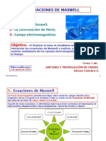 6.1 Ecuacion Maxwell