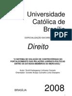 O Sistema de Solução de Controvérsias no Fortalecimento das Relacoes Juridico-Politicas Entre os Estados-Membros do Mercosul