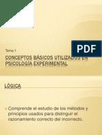 Tema 1. Conceptos Basicos Utilizados en Psicologia Experimental