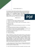 Acta de Cabildo No 12 2011