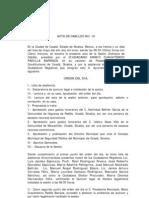 Acta de Cabildo No 16 2011