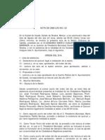 Acta de Cabildo No 22 2011
