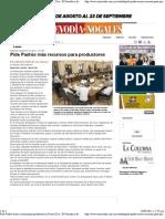 10-09-11 Pide Padrés más recursos para productores Nuevo Dia -