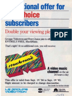 Videotron MuchMusic 1984