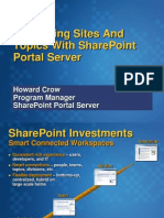 Organizing sites and topics with share point portal server