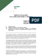 Acuerdo Comercial Peru Mexico
