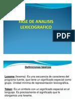 Fase de Analisis Lexicografico