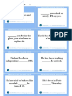 Prepositions for and since Cards