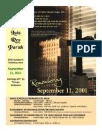 Bulletin for 9-11-2011, Mission San Luis Rey Parish