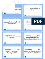 Prepositions to, For, From Cards