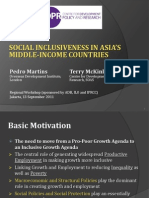 Social Inclusiveness in Asia's Middle Income Countries  (Presentation)