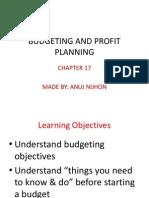 Budgeting and Profit Planning-Anuj Nijhon