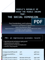 How the People's Republic of China Can Avoid the Middle Income Trap (Presentation)