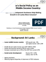 Sri Lanka's social policy as an emerging middle income country