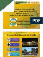 XII CONGRESO NACIONAL DE ESTUDIANTES DE INGENIERÍA AGROINDUSTRIAL