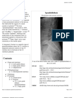 Spondylolisthesis - Wikipedia, The Free Encyclopedia