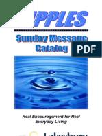 SundayMessageCatalog-Master9-11Rev1