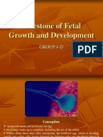 Milestone of Fetal Growth and Development