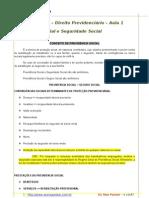 Aula 1 Previdencia Social e Seguridade Social