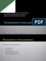 Ecuaciones e Inecuaciones Lineales