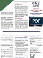 Brochure Servicio Como Factor Clave de Exito