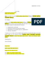 Complaint Letter Format To Mtnl. LIC Market Plus Surrender Request Letter Template Application for Telephone