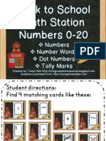 Numbers Math Station