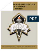 Au Awards & Achievements Criteria Handbook
