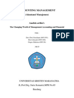 The Changing World of Management Accounting and Financial