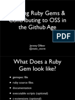 Writing Ruby Gems and Contributing to OSS