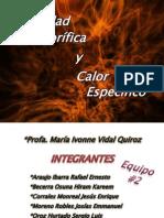 Exposición Fisica # 2 Capacidad Calorífica y Calor Específico