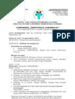 Agenda Conferintei tile Chisinaului