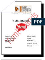 Project of Yum Brands