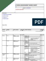 HSE Risk Assessment Worksheet - Maintenance 01 12 2010