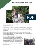 Dennisons in Uganda Update Fall 2011