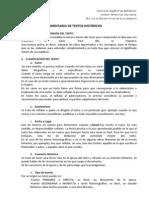 ESQUEMA DE COMENTARIO DE TEXTOS HISTÓRICOS