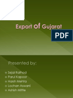 Export of Gujarat