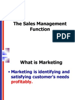 1 Sales Management Function
