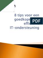 8 tips voor een goedkopere en efficiënte IT ondersteuning