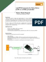 2009 Master Proposal Motor Control