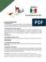 Boletín 2 correo real de las mariposas monarca. otoño de 2011