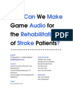 How Can We Make Game Audio for the Rehabilitation of Stroke Patients