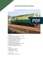 Data Teknis Lokomotif Diesel Elektrik Di Indonesia