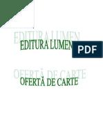 Editura Lumen, Oferta de Preturi , septembrie, 2011