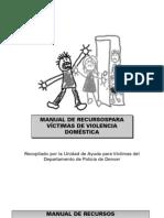 Manual de Recursos Para Victimas de Violencia Domestica