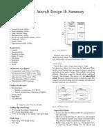 Advanced Aircraft Design Summary
