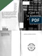 Peter Burke - Qué es la historia cultural