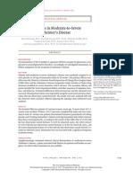 Memantine in Moderate-to-Severe   Alzheimer's Disease